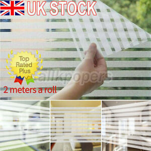 Self Adhesive 2m Frosted Privacy Window Glass Film Sticker Bathroom Waterproof