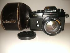 Minolta XE-7 35mm film SLR camera w/ MD Minolta Rokkor-X 50mm f/1.4 lens & case