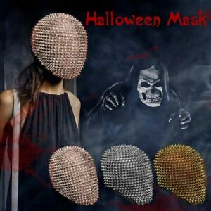 Halloween Cosplay Studded Spike Full Face Cover Mask Costumes Carnival Partywear