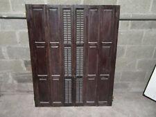 ~ 3 Sets Antique Oak Interior Folding Pocket Shutters ~ Architectural Salvage