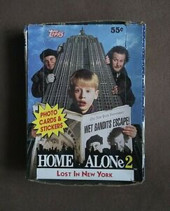 1992 Topps Home Alone 2 Lost in New York Trading Cards Box ~ 36 Sealed Packs