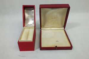 Vtg Authentic Cartier Jewelry BOX ONLY - Pair of Clean Boxes! Bracelet Broach