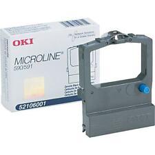 OKI Microline Black Fabric Ribbon ML590 ML591 52106001 24pin Genuine OKIDATA