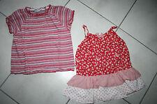 2 x Bluse und Top rot, Gr. 116