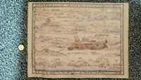 Judaica Israel Old Panoramic View of The Holy Land in Hebrew  Printing