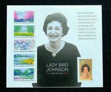 2012  #4716 Lady bird Johnson Beautiful America forever stamps Mint pane of 6