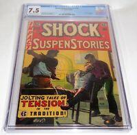 "Shock SuspenStories #16 EC Comic CGC Universal Grade 7.5 ""Red Dupe"" Rape Story🔥"