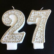 Diamante Birthday CANDLE (any two digit number) Cake Topper Party FREEPOST