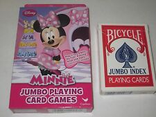 Disney Minnie Mouse Jumbo Playing Cards - Child's Card Games, Magic Tricks, Play