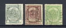 Belgium: 1907 set of three, good to fine used.