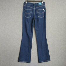 "Disney Mickey Jeans Mid Rise BootCut Womens Size 6 R Waist 30"" Dark Wash"