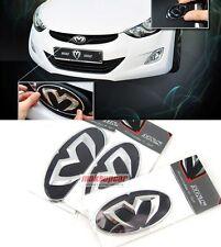 Chrome Edition Emblem Grille,Trunk,Horn For Hyundai Sonata 2006 2010