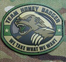 TEAM HONEY BADGER 3D RUBBER PVC ARMY ISAF MORALE MILSPEC MULTICAM HOOK PATCH