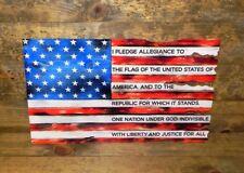 USA STEEL FLAG – PLEDGE 14 gauge steel 24 x15