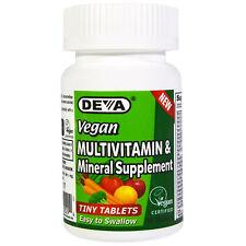 DEVA Vegan Multivitamin and Mineral Supplement x 90 TINY TABLETS, Gluten Free