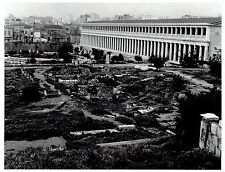 1964 Vintage Photo aerial view of Stoa of Attalos in Agora of Athens Greece