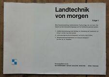orig. Prospekt Schlüter Landtechnik von morgen Folge 1 Schlepper 16Seiten 1966