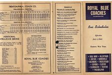 Royal Blue Coaches Bus Schedule 1945