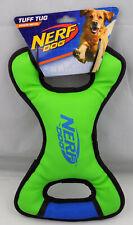 "Nerf Tuff Tug Dog Toy Medium Green Play Chew Catch Dog Toy 13"" Long New ST144"