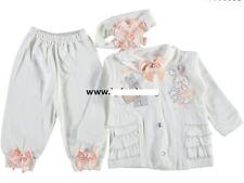 NEU Baby Mädchen Set 3-Teile Tunika/Shirt , Hose + Stirnband  Gr. 62, 68