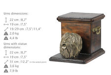 Polish Lowland Sheepdog, dog urn made of cold cast bronze, ArtDog, Ca - kind2