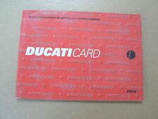 DUCATI CARD GUIDA AL PROGRAMMA DI ASSISTENZA E MEDICO SANITARIA 1999 ITALIA
