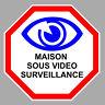 MAISON VIDEO SURVEILLANCE CAMERA PROTECTION 15cm AUTOCOLLANT STICKER VA108