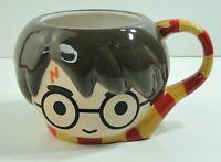 Ceramic Harry Potter Figural Coffee Mug 24 oz  with Gryffindor Scarf