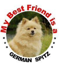 2 German Spitz Dog Car Stickers By Starprint