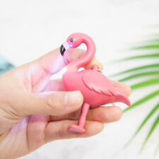 Flamingo LED Flashlight Sound Keychain Bag Hanging Pendant Key Ring Gift Grace