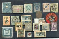 AUSTRIA 22 ST. INCL. POSTER STAMP /REVENUES / BACK OF BOOK-- F/VF