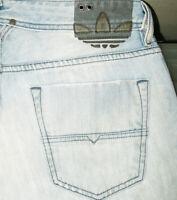 *HOT AUTHENTIC Men DIESEL @ ADI- LARKEE Art 8KJ STRAIGHT LEG LIGHT Jeans 31 x 32
