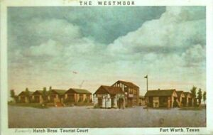 THE WESTMOOR MOTEL 1937 Hatch Bro Tourist Camp Fort Worth TX Advertising Package