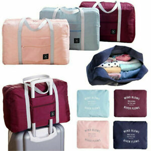 Foldable Travel Duffel Bag Tote Carry on Luggage Weekender Overnight Sport Bag