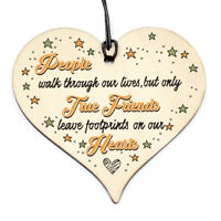 #785 Friendship Sign Best Friend Plaque Gift Shabby Chic Wood Hanging Heart GIN