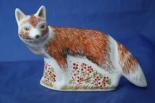 ROYAL CROWN DERBY MOTHER FOX PAPERWEIGHT MMXIV - NEW / BOXED