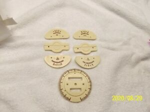 1940-47 Buick Ivory Gauge Faces w/Ivory Speedometer Face; 7 Pcs. NEW