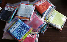 """Scrap Bags of Batiks - 40 pcs - 3-6"""" x 10-11"""" - over 1 yd total fabric by weight"""