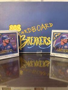 LA Dodgers Topps Gallery 2020 Baseball 2 mega box break BB444  4 autos