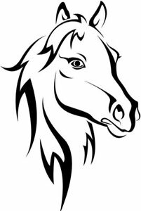 Vinyl Decal for Window  - Horse (May Personalize w/ Names)