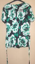 BNWT Debenhams The Collection Ladies Green/Black/White Floral Top - Size 14