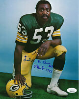 PACKERS Fred Carr signed 8x10 photo w/ PHOF 1983 JSA COA AUTO Autographed rare