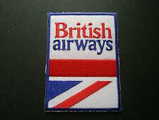 HEAVY METAL PUNK ROCK MUSIC SEW / IRON ON PATCH:- BRITISH AIRWAYS
