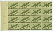 US Sc# C26 VF PLATE # BLOCK of 16 Twin-Motored Transport Plane 8 cents MNH