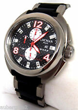 LOCMAN *MARE* (SEA) TITANIUM & CARBON CHRONOGRAPH WATCH on BRACELET, NEW.  $995