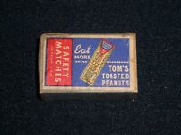 "Tom's Toasted Peanuts ""Eat More"" vintage Safety Matches Matchbox"