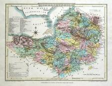 SOMERSET, Cole & Roper, Original Antique County Map 1807