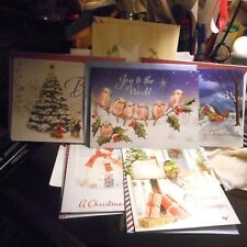 12Christmas greeting cards + 7 assorted greeting cards,Birthday,Thank you,etc