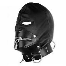 Gothic PVC hood with zipped mouth (HP-29-BLA),  FREE UK DELIVERY