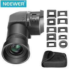 Neewer 1,25x-2,5x Visor de ángulo Recto para Canon, Nikon, Sony, Cámaras DSLR
